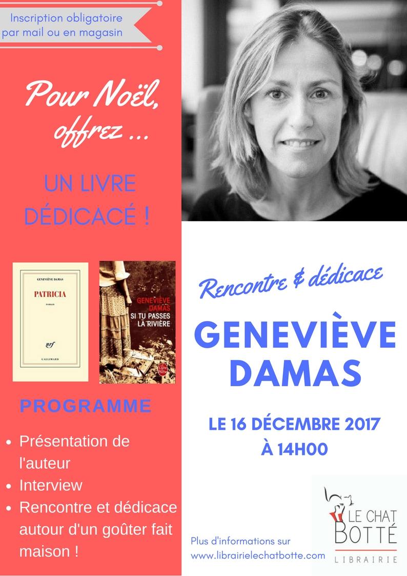 Séance de dédicaces avec Geneviève Damas